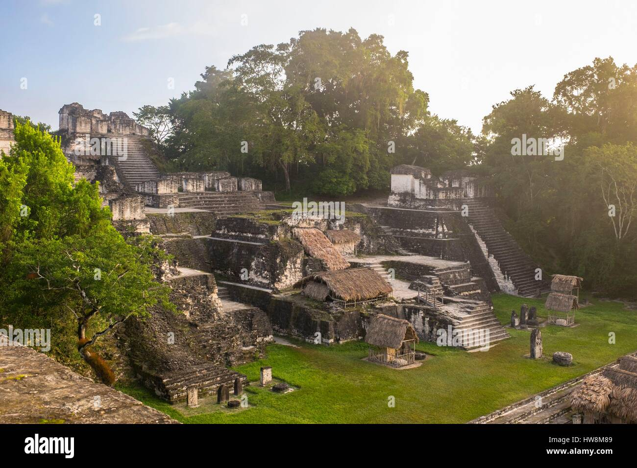 Guatemala, Peten department, Tikal National Park, a UNESCO World Heritage site, north acropolis - Stock Image