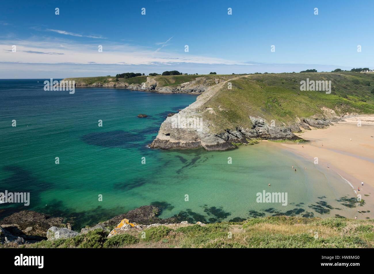 France Morbihan Bangor At Belle Ile En Mer Herlin Beach Stock