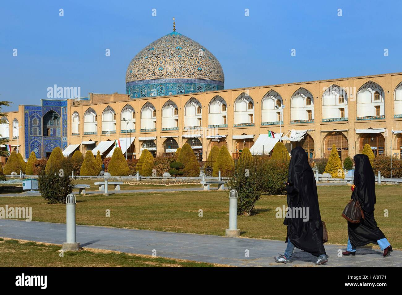 Iran, Isfahan Province, Isfahan, naghsh-i jahan square also known as Imam Khomeiny square, listed as World Heritage - Stock Image