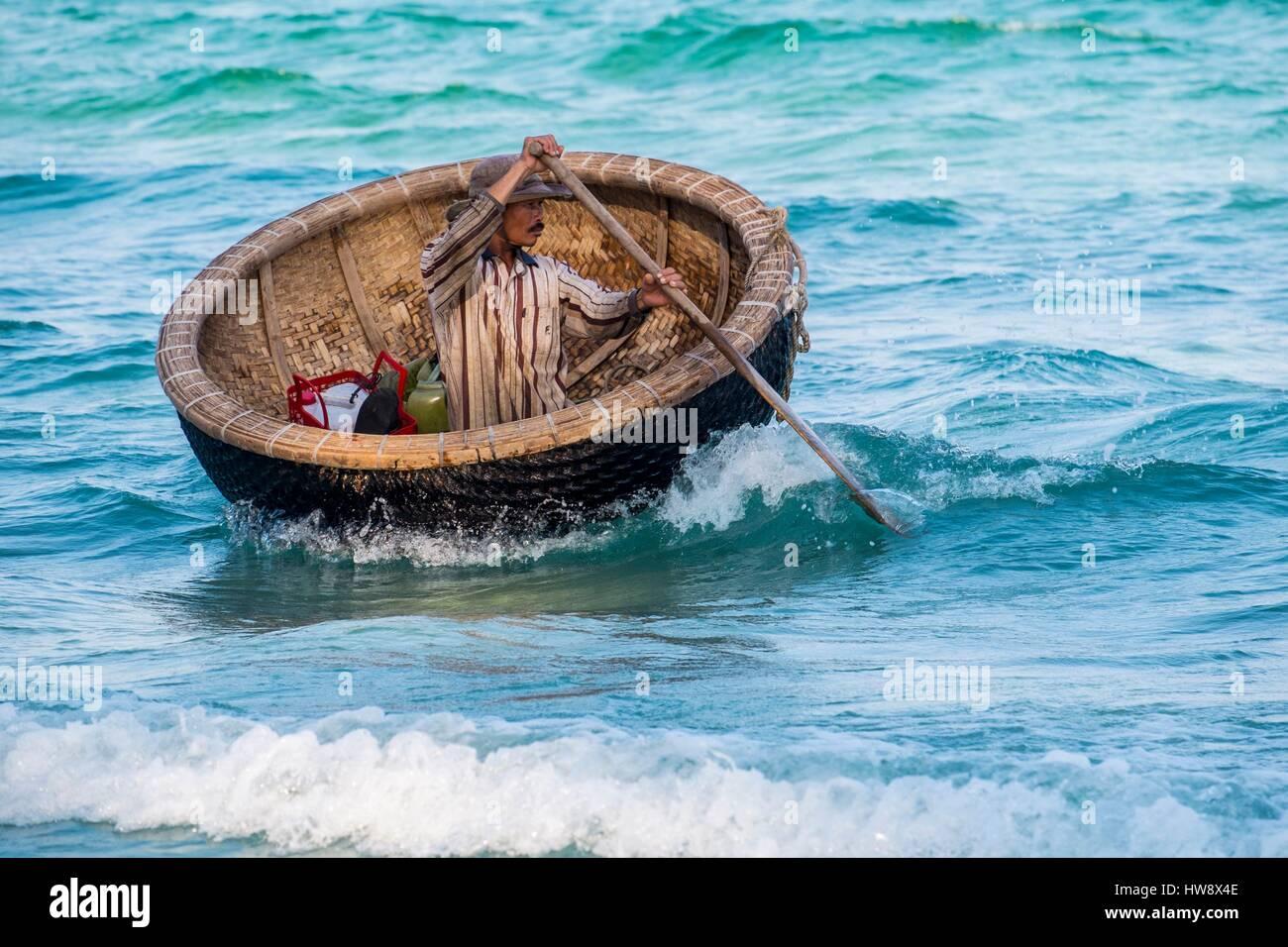 Vietnam, Khanh Hoa province, near Nha Trang, the Doc Let beach - Stock Image
