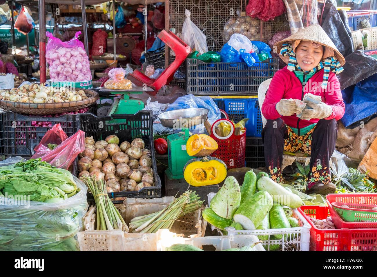 Vietnam, Khanh Hoa province, Nha Trang City, the market - Stock Image