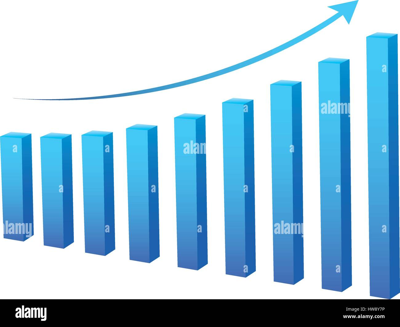 statistic graph business data - Stock Image