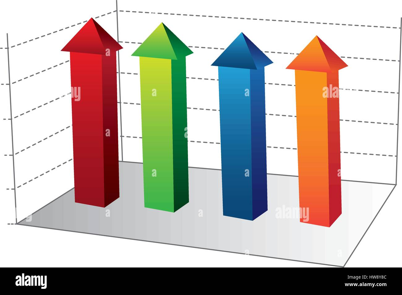 business data statistic graphic - Stock Image