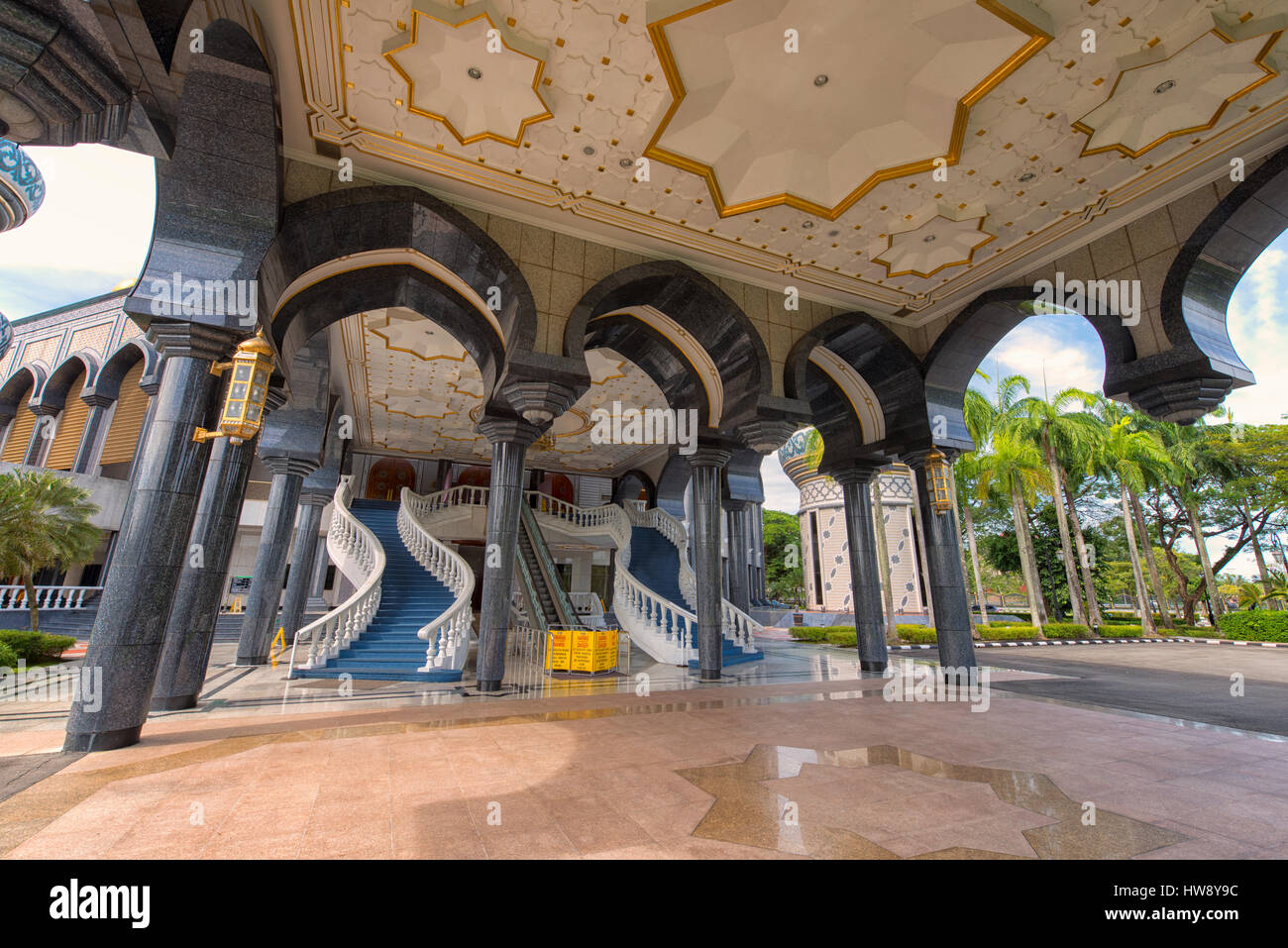 Jame'Asr Hassanil Bolkiah Mosque in Bandar Seri Begawan, Brunei - Stock Image