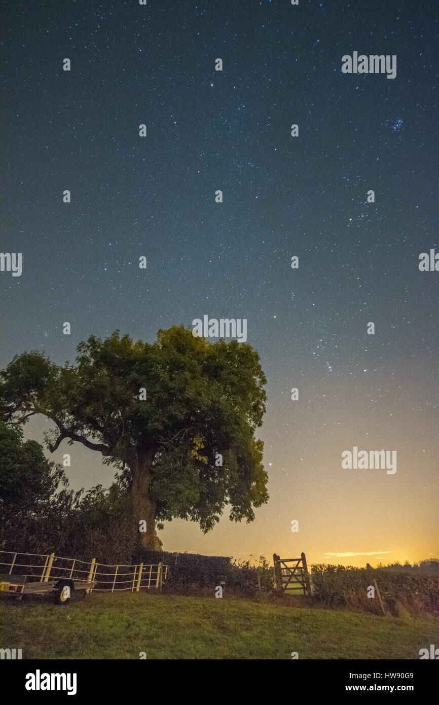 Astro Photography Landscape - Stock Image