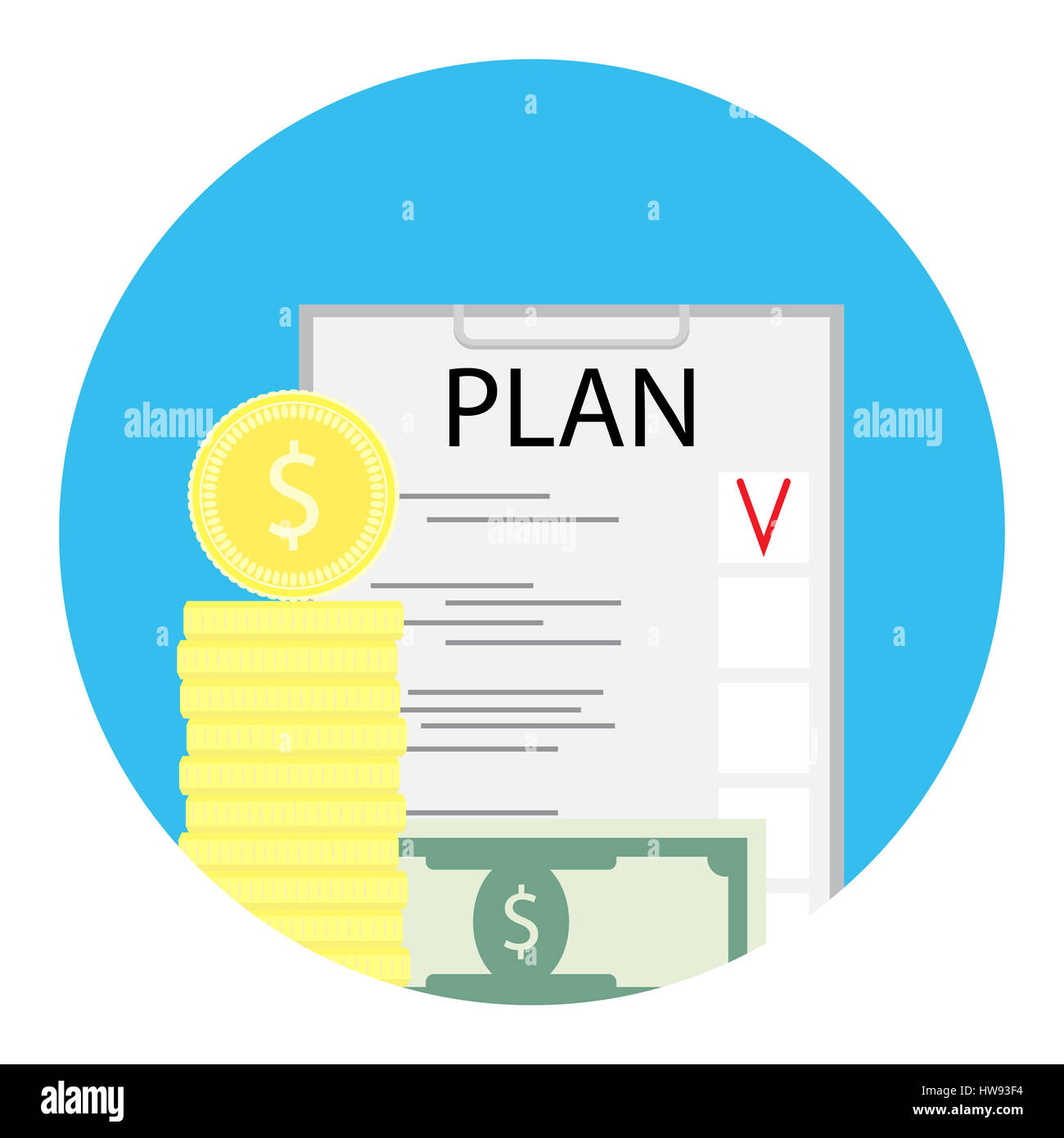 business plan icon finance investment plan checklist money and