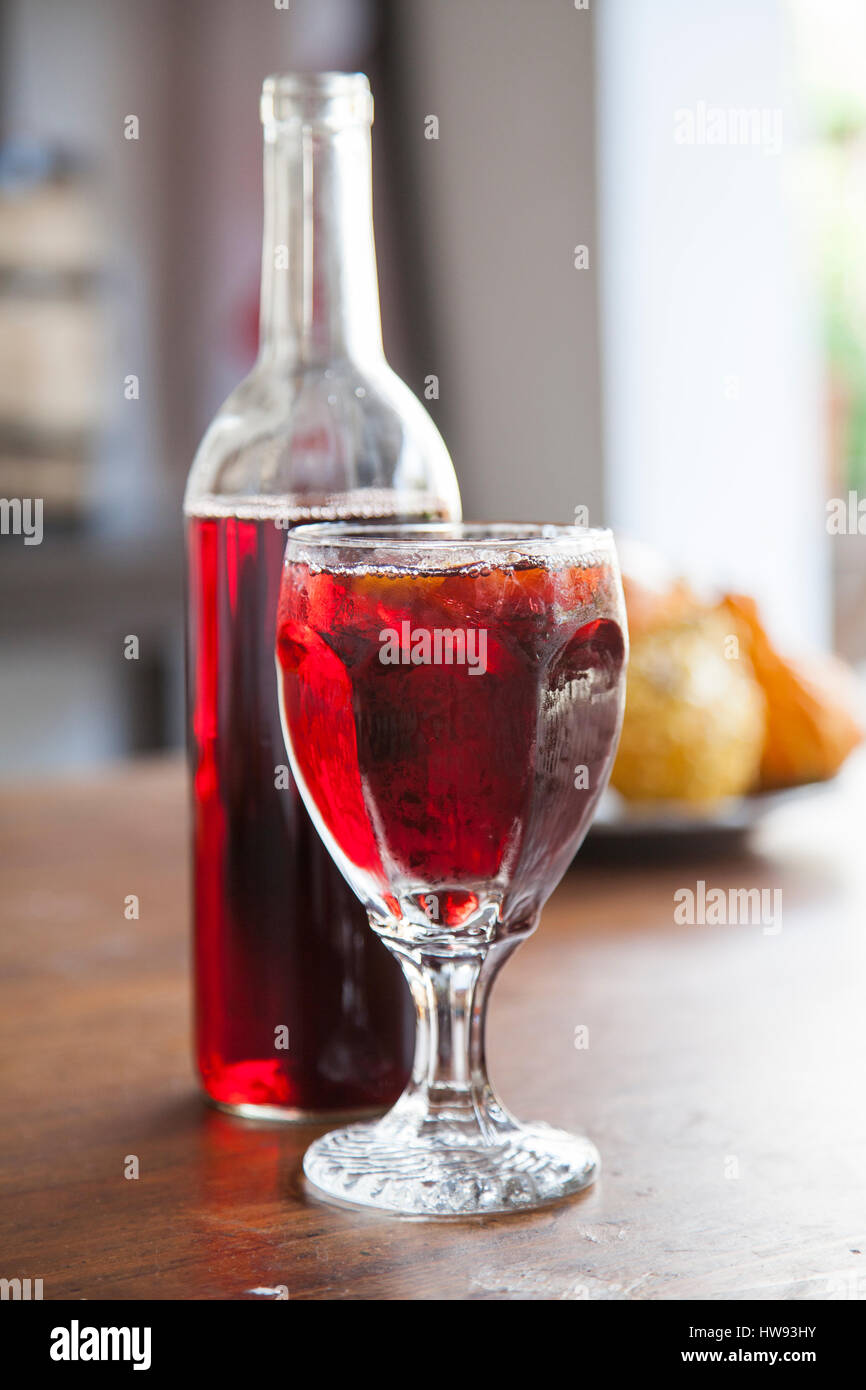 Sangria along St. George Street in St. Augustine Florida. - Stock Image
