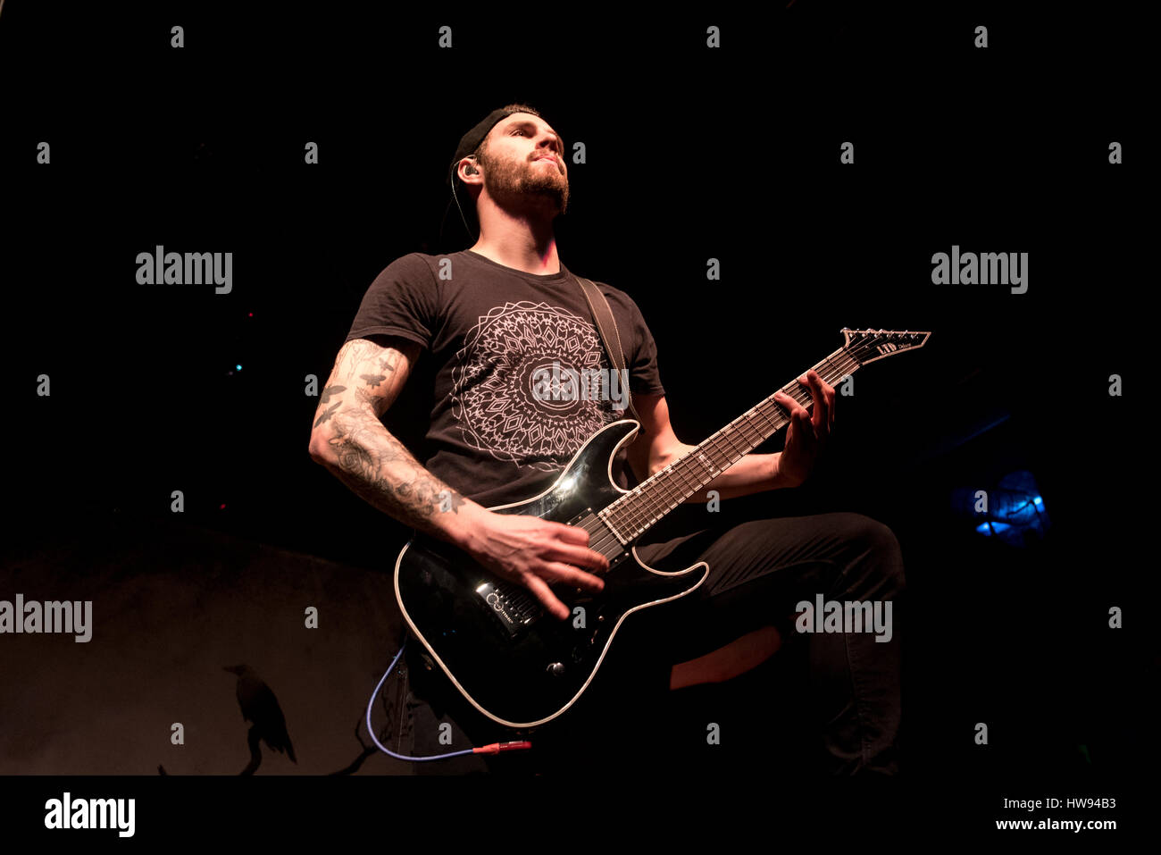 Metalcore band The Raven Age perform at Live Music Club in this picture George Harris the Steve Harris son's - Stock Image