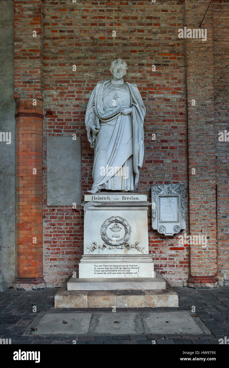Tomb of Henry of Wroclaw, physicians, 1784-1851, Bavarian royal court physician and university teacher, Südfriedhof, - Stock Image