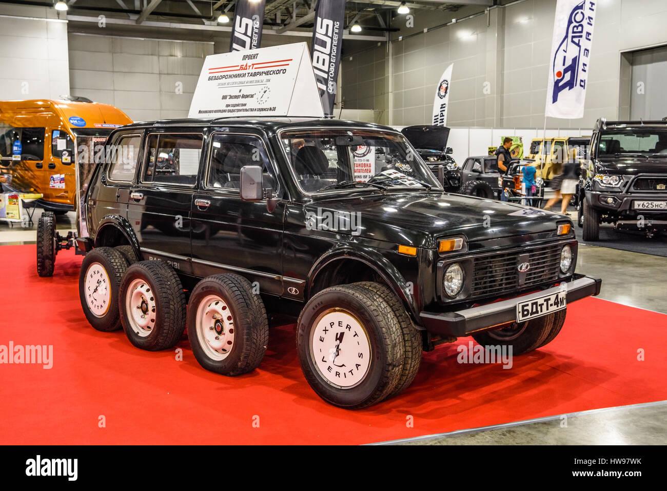 MOSCOW - AUG 2016: LADA VAZ 2131 4x4 presented at MIAS Moscow International  Automobile Salon