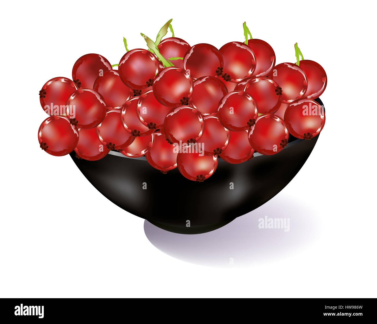 Abstract Red currents isolated - Stock Image
