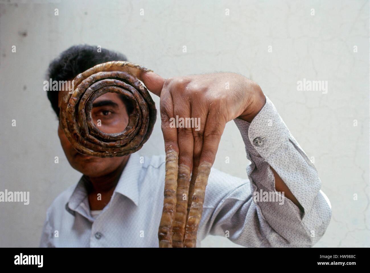 Longest Finger Nails World Record India Stock Photo 136043052 Alamy