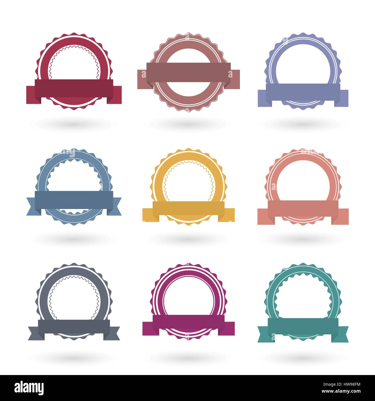Circle Seal Stamp Frame Vector Stock Photos & Circle Seal Stamp ...