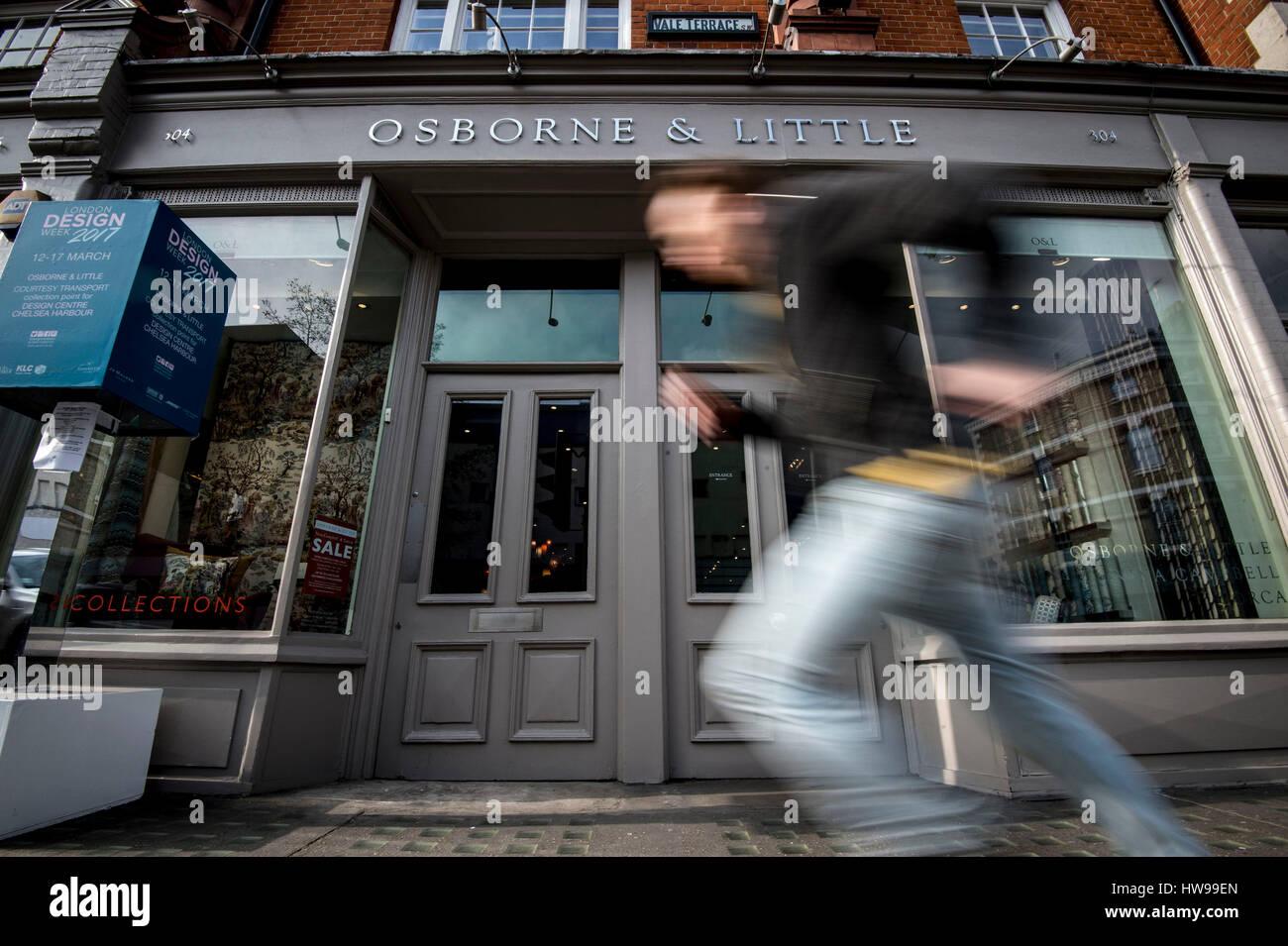 General view of Osborne & Little on King\'s Road, Chelsea, London ...