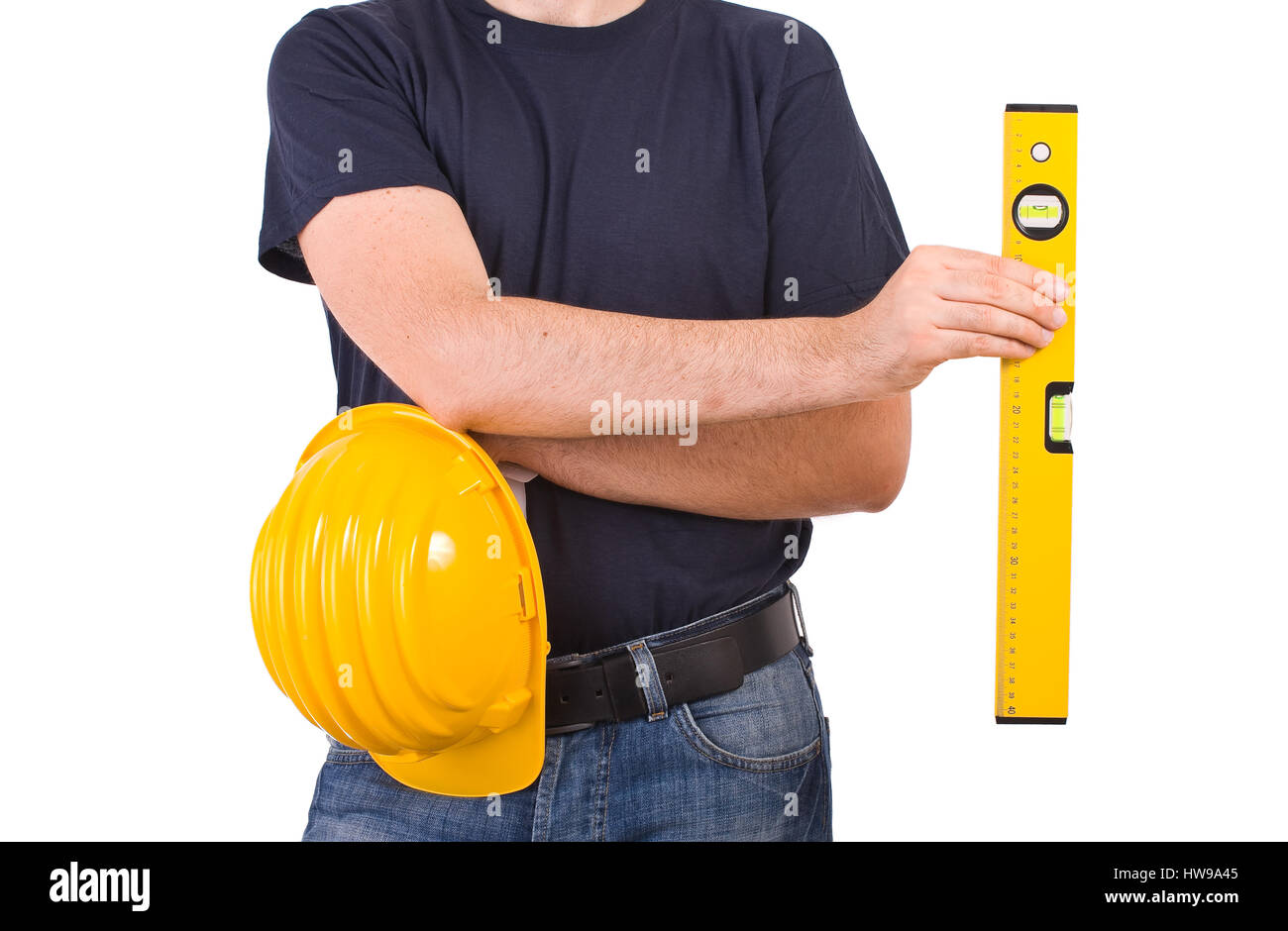 Blue collar worker. - Stock Image