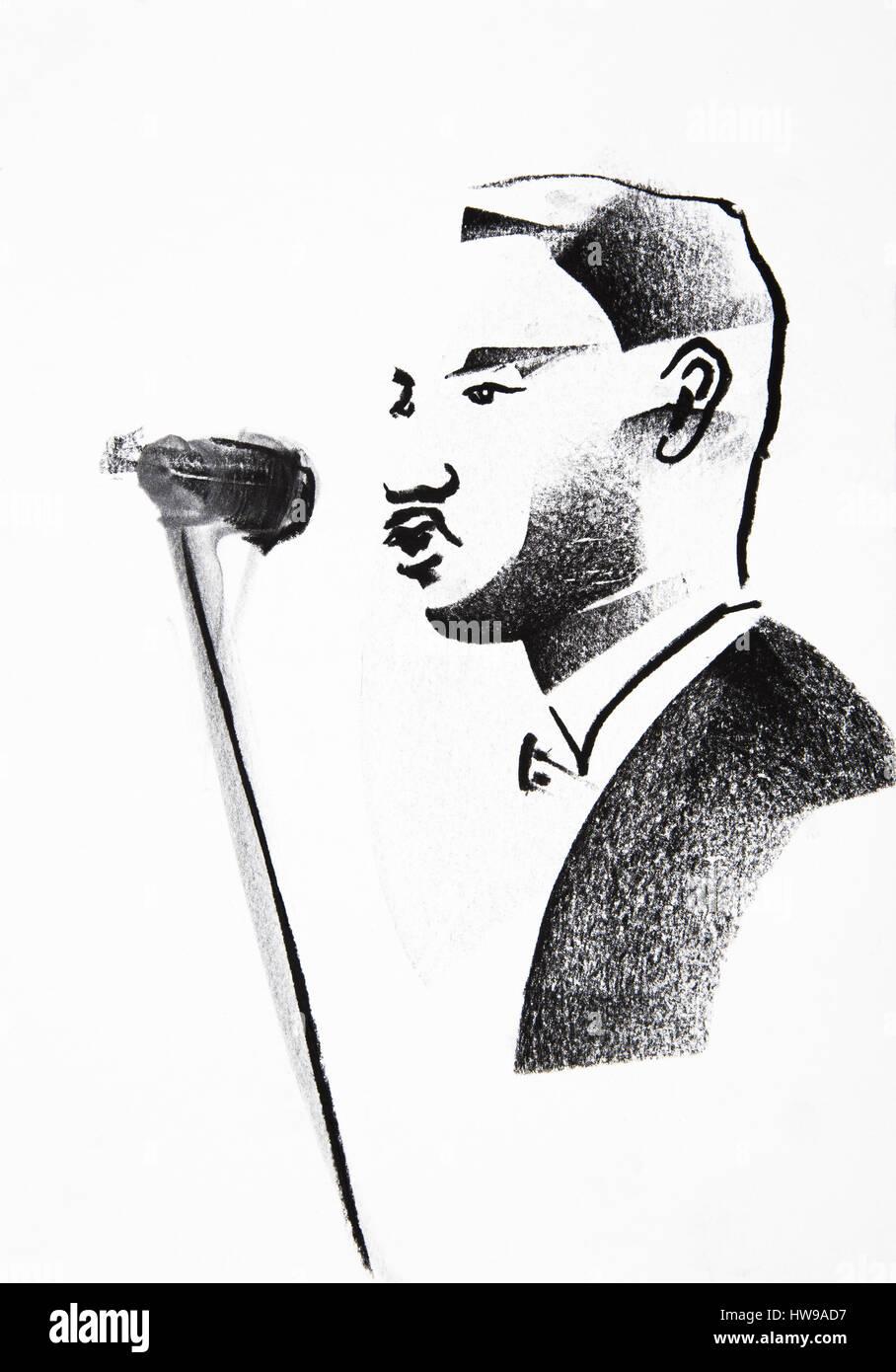 Martin Luther King Jr 1929 1968 Illustration Of Ewa Klos C Ewa
