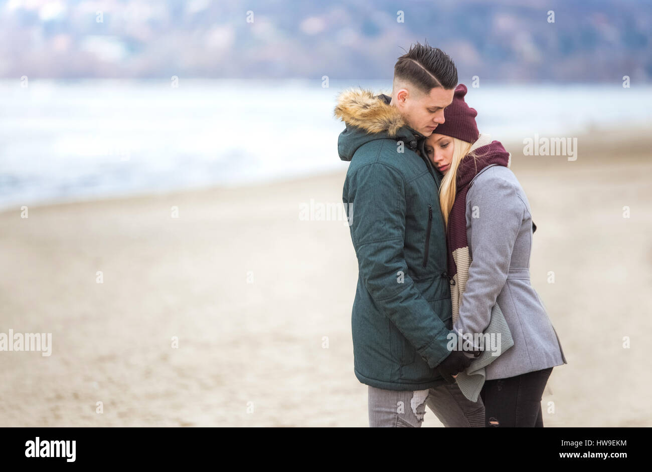 Young couple having relationship difficulties - Stock Image