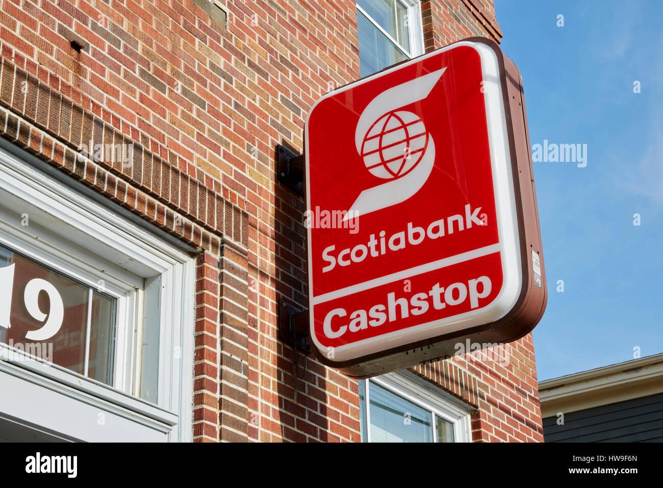 Scotiabank, Scotia Bank, cashstop sign, Annapolis Royal
