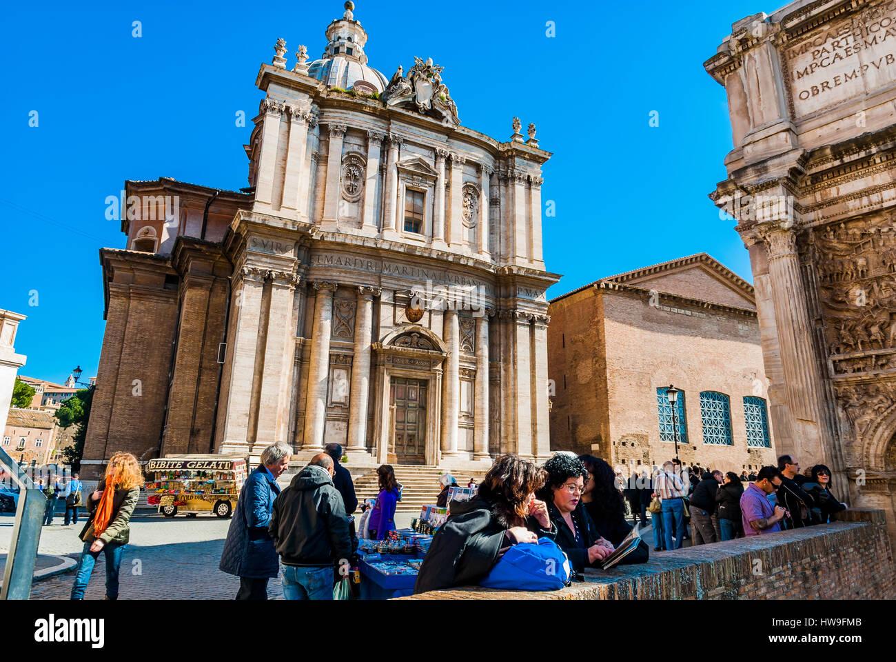 Church of Santi Luca e Martina. Roman Forum. Rome, Lazio, Italy, Europe - Stock Image