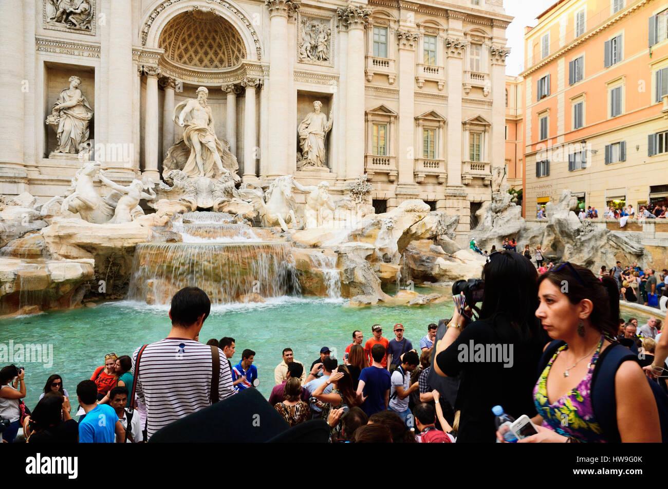 Fontana di Trevi. Fountain di Trevi. Rome, Lazio, Italy, Europe - Stock Image