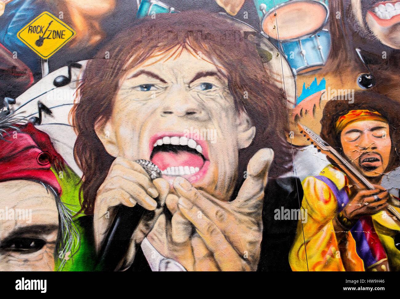 The John Lennon Mural Stock Photos & The John Lennon Mural Stock