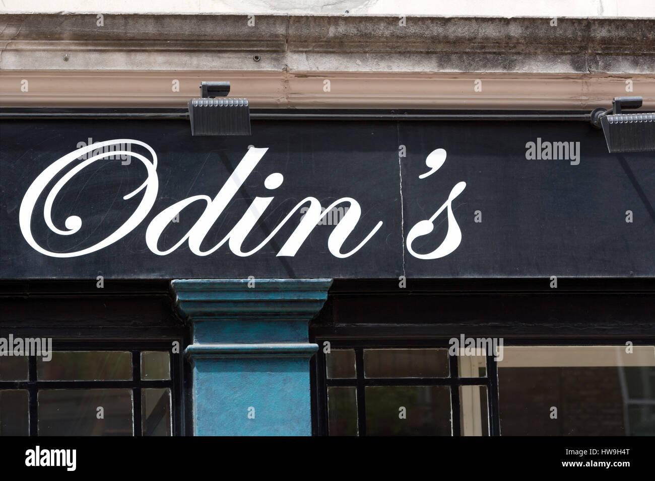 Odin's highly renowned Marylebone Restaurant (Now closed) Devonshire Street; London W1; England; UK - Stock Image