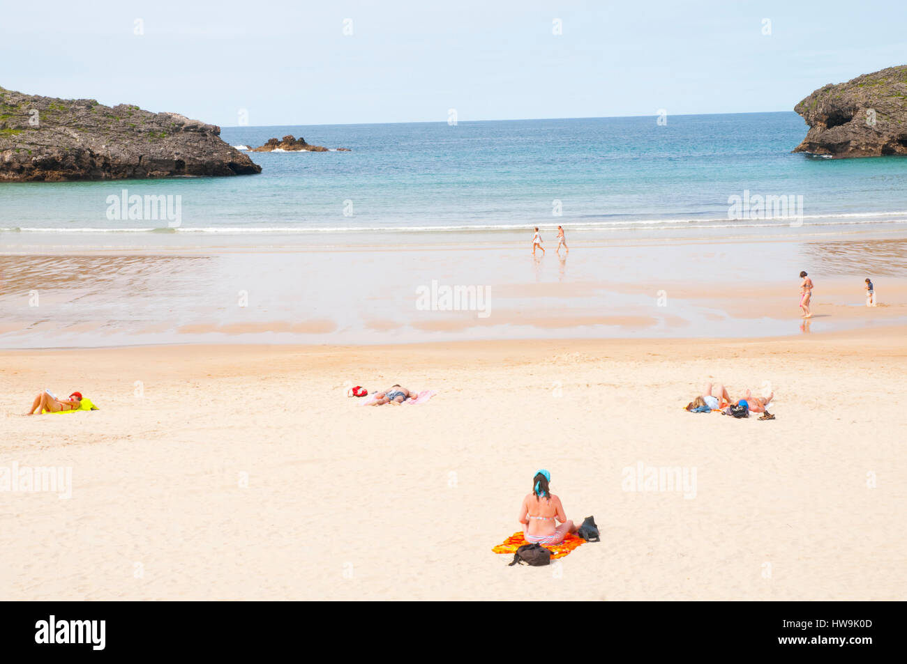 Beach. Barro, Asturias, Spain. - Stock Image