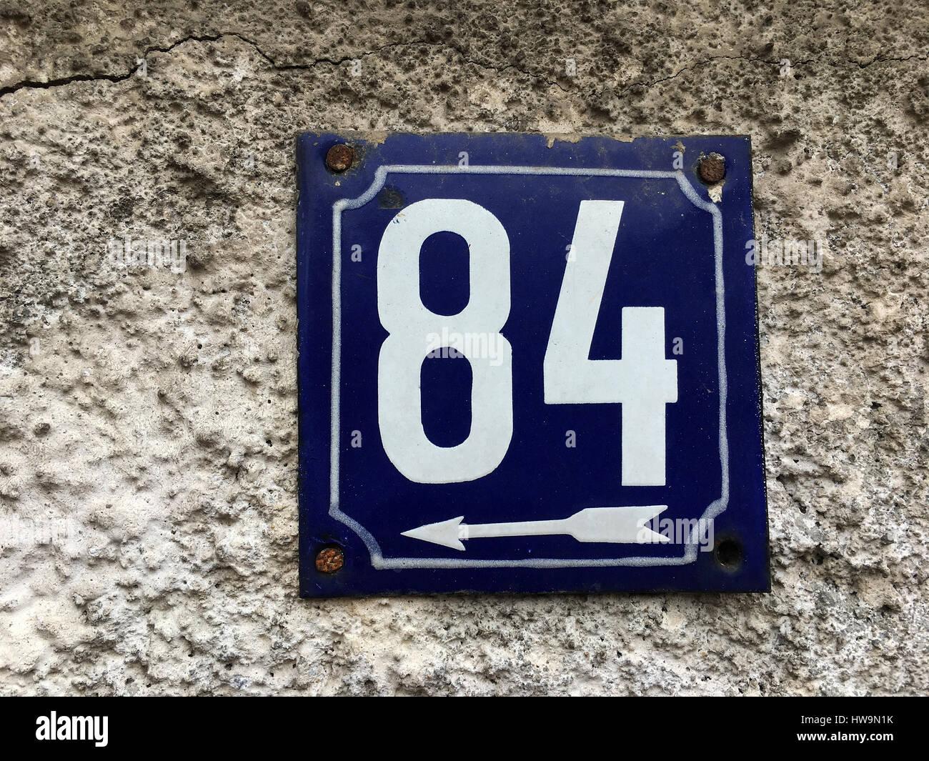 Door Number 1 Vintage Enamel House Number Plate Address Sign for House Outdoor House Number Door Sign 1 Address House Plaque