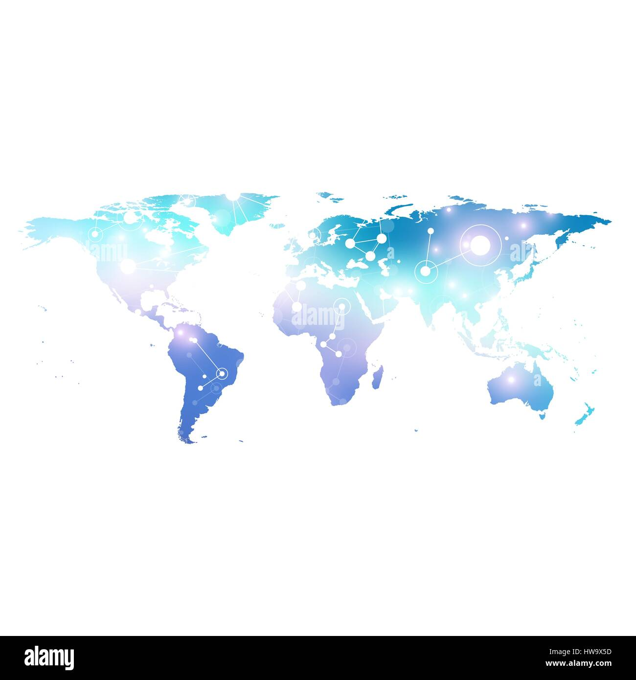 World map with global technology networking concept digital data digital data visualization scientific cybernetic particle compounds big data background communication vector illustration world map gumiabroncs Image collections