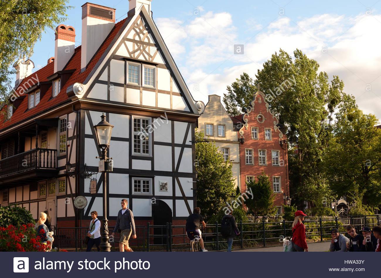 Gdansk Chocolate Mill / Czekoladowy Mlyn, Old Town / Stare Miasto, Poland - Stock Image
