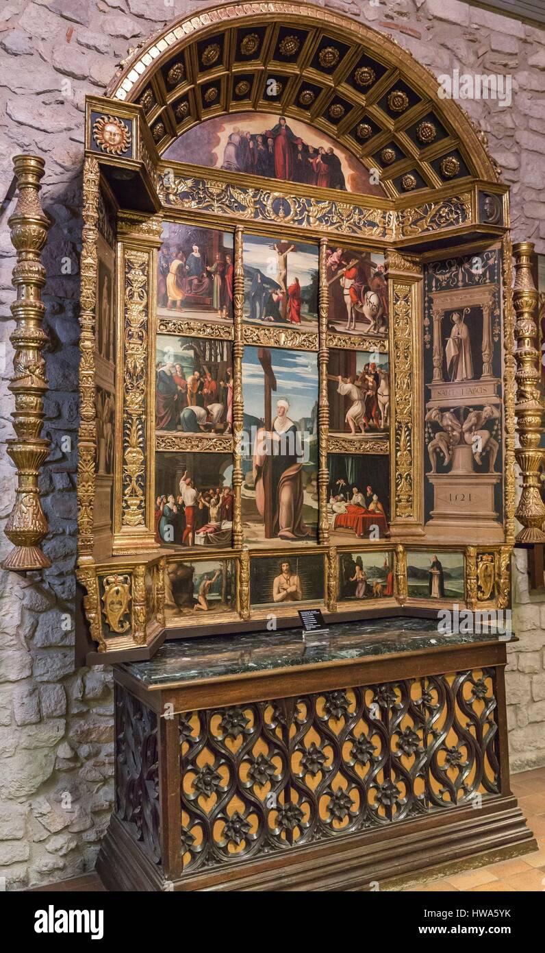 Spain, Catalonia, Girona, Gothic St  Mary's Cathedral, Treasury