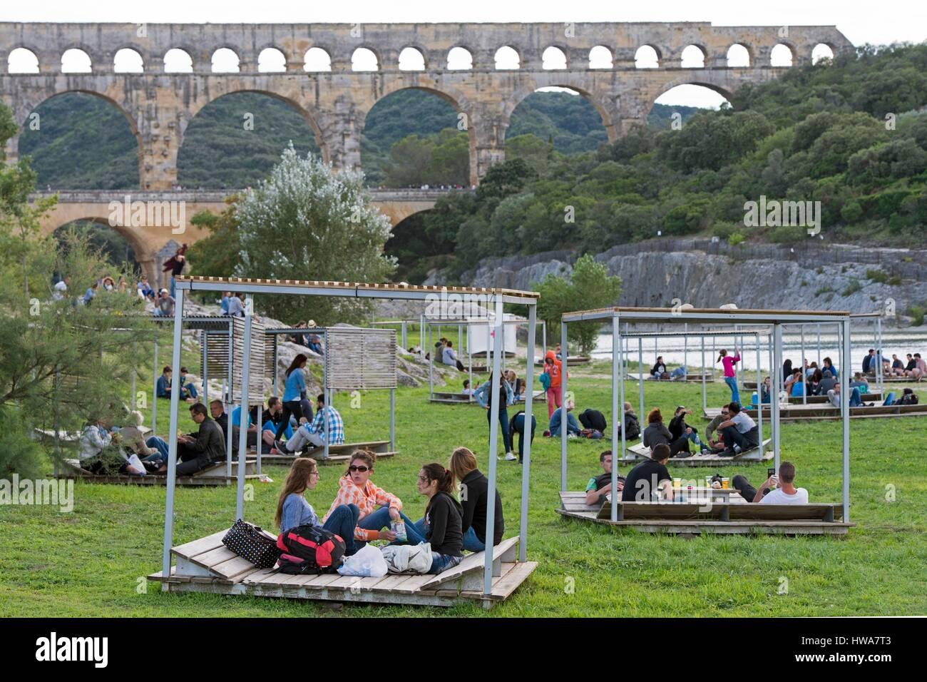 Pont Du Gard People Stock Photos Pont Du Gard People Stock