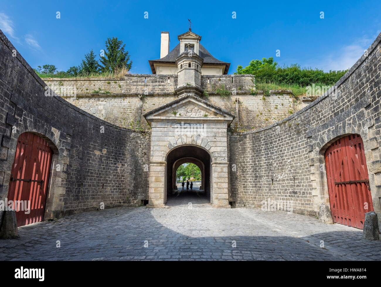 France, Gironde, stage on the way of Santiago de Compostela, the Citadel, Fortifications of Vauban, UNESCO World - Stock Image