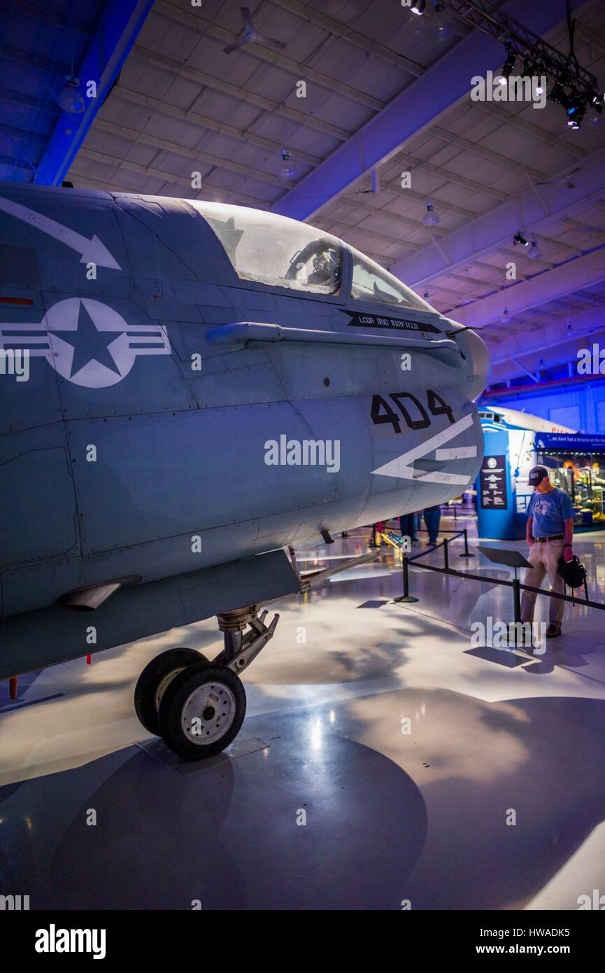 United States, North Carolina, Charlotte, Carolina's Aviation Museum - Stock Image
