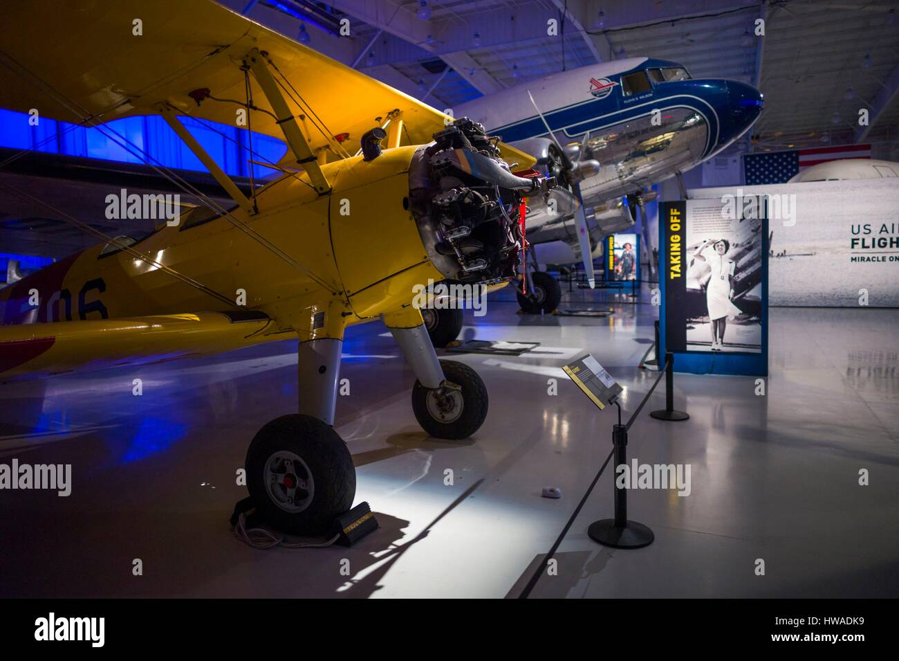 United States, North Carolina, Charlotte, Carolina's Aviation Museum, interior - Stock Image
