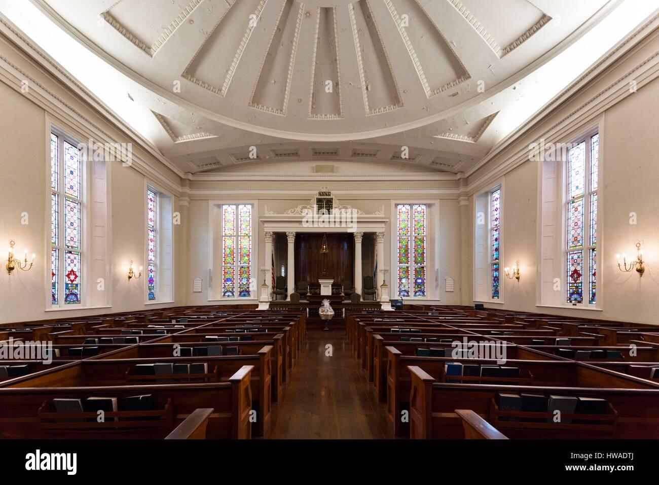 United States, South Carolina, Charleston, Kahal Kadosh Beth Elohim Synagogue, oldest continuously used synagogue Stock Photo