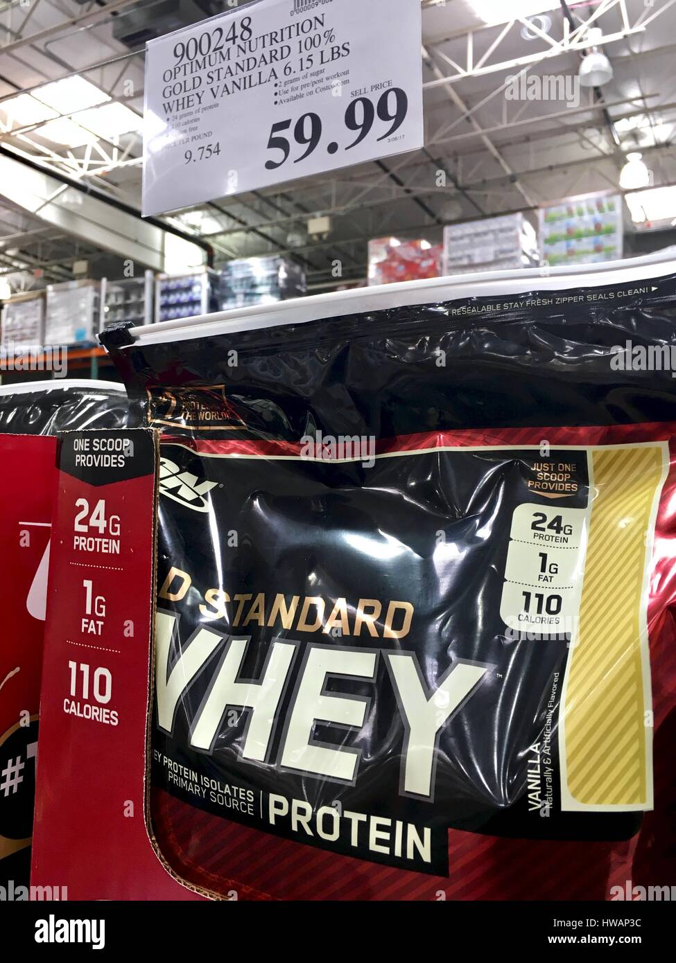 100 Whey Protein For Sale At Costco Stock Photo 136075840 Alamy