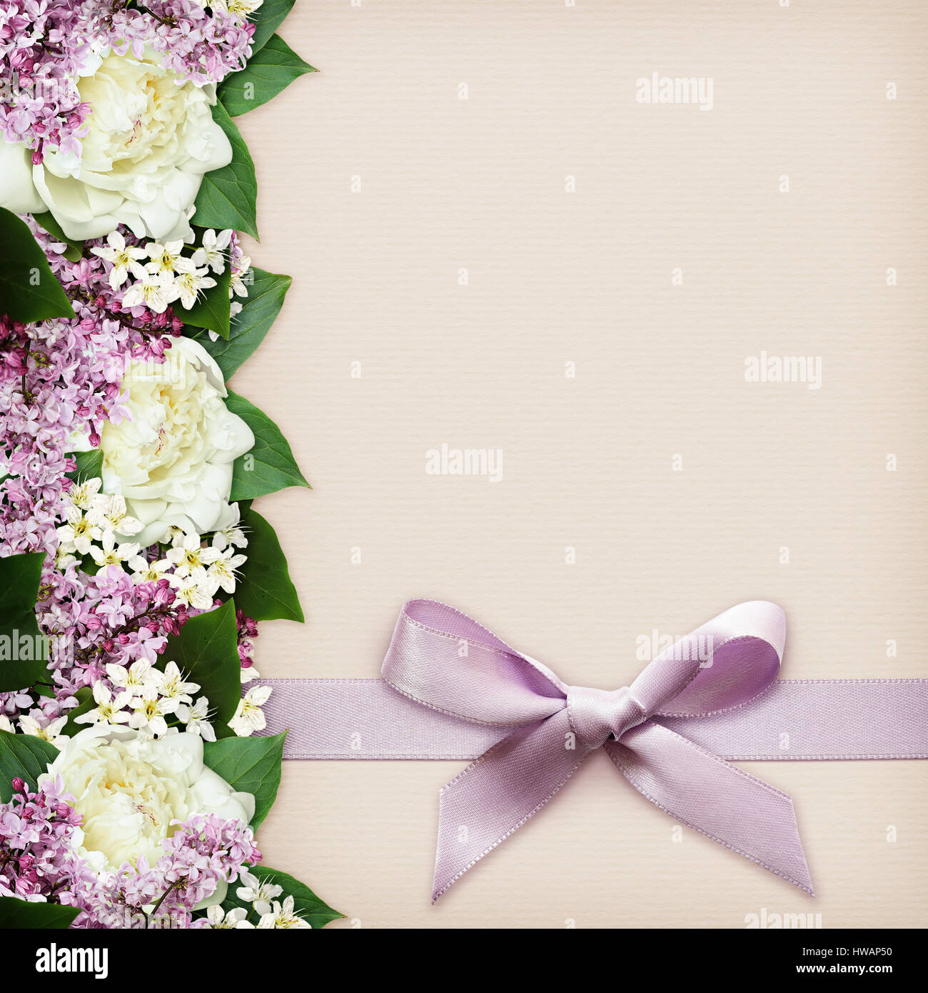 Flowers On Paper Stock Photos Flowers On Paper Stock Images Alamy