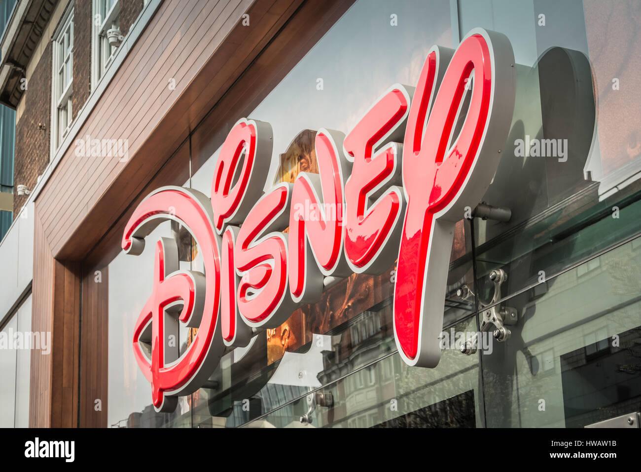 Disney Store, Oxford Street, London, UK Stock Photo