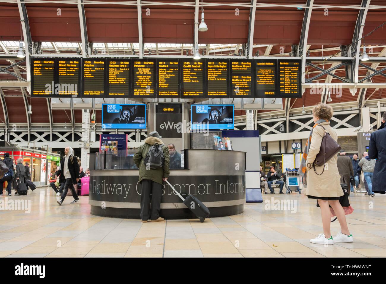 Paddington Station in London, England, UK - Stock Image