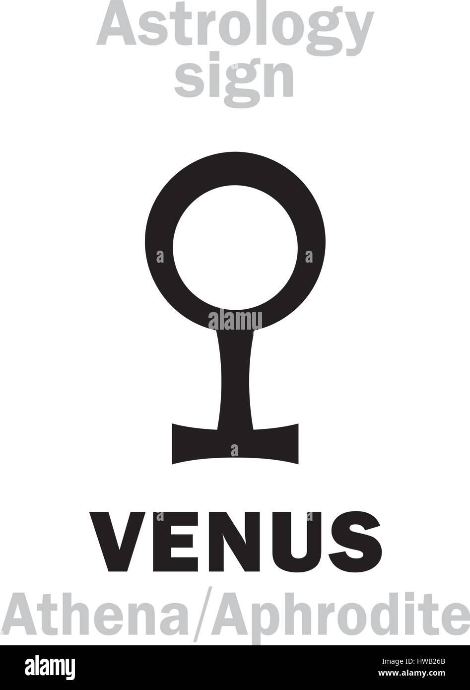 Astrology Alphabet Venus Athena Aphrodite The Planetary Star