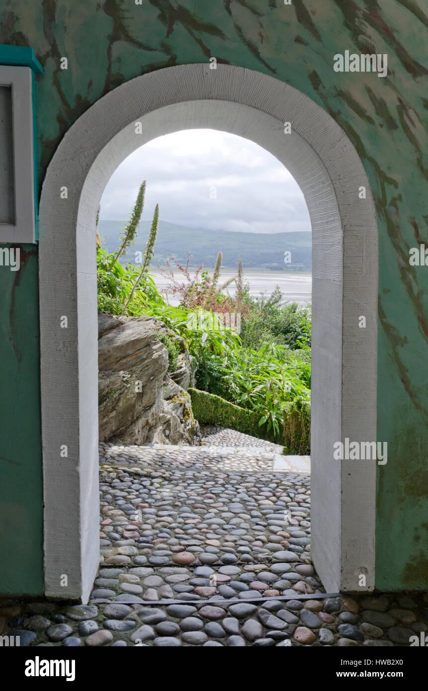 Portmeirion Italianate village, Gwynedd, Wales, UK. Stock Photo