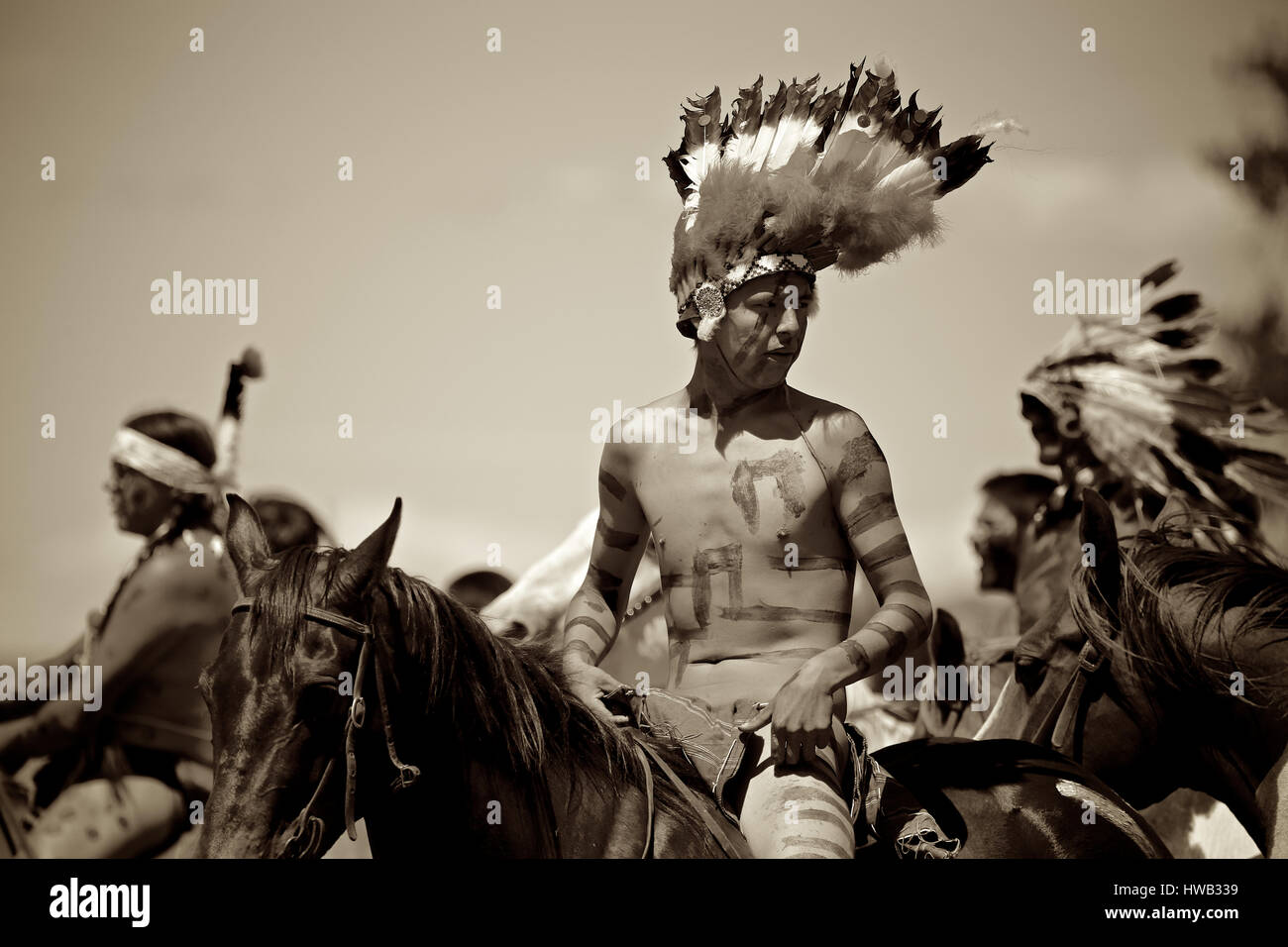 Native American Indians Crazy Horse Battle Of Little Big Horn Stock Photo Alamy