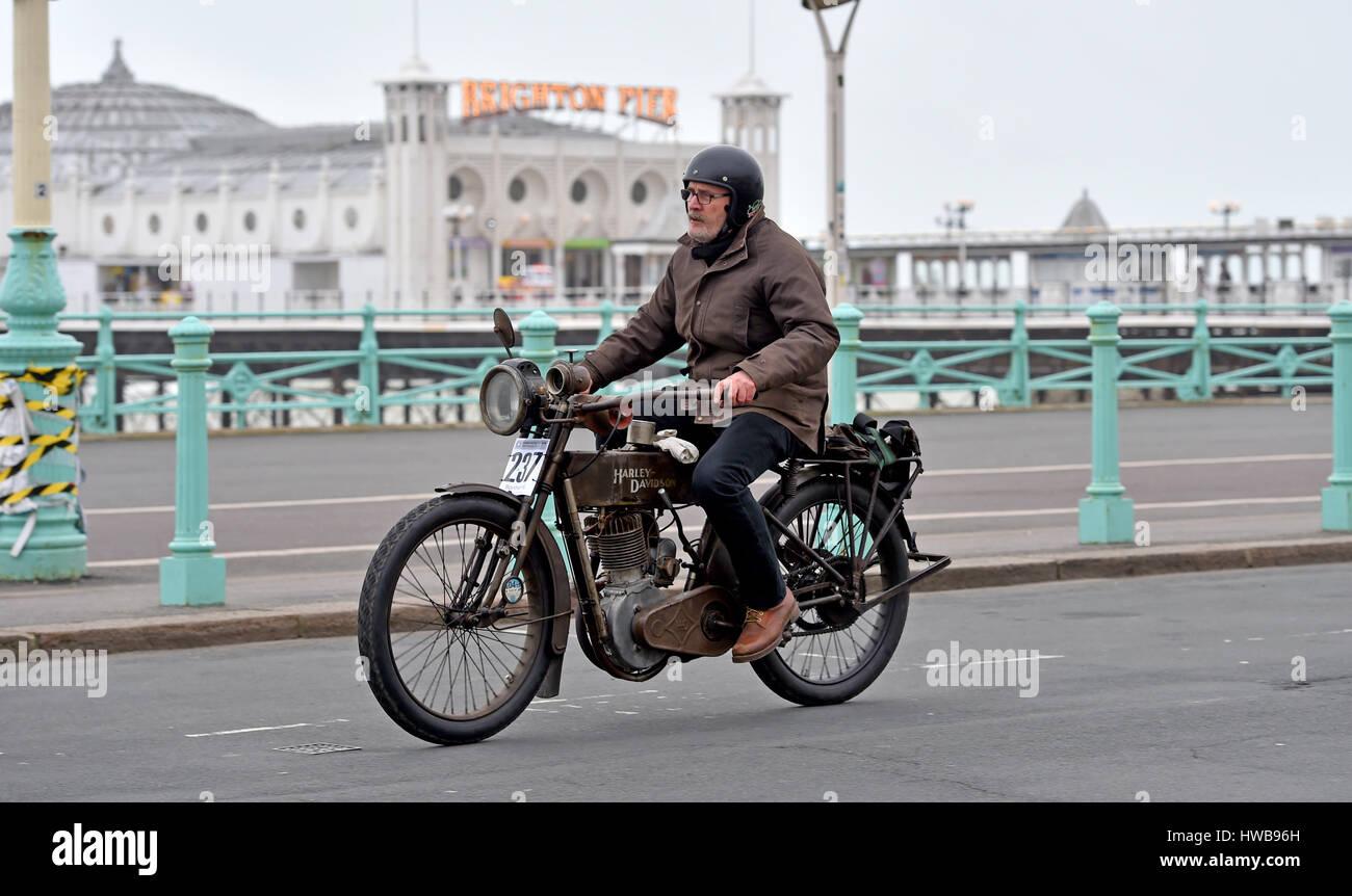 London To Brighton Cycle 2017 >> Old Harley Davidson Stock Photos & Old Harley Davidson Stock Images - Alamy