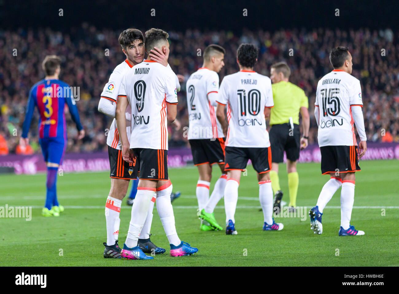82a418d6966 March 19, 2017: Munir El Haddadi celebrates scoring the goal during the  match between