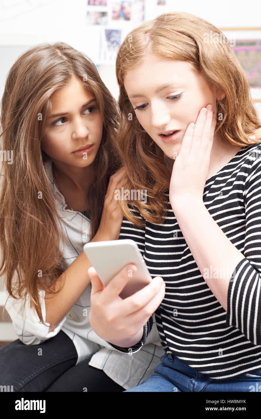 Are Girls that are getting bullied on their phones topic