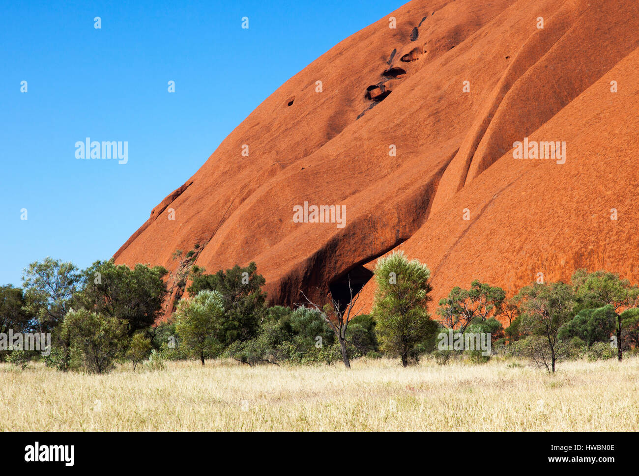 Uluru, Uluru-Kata Tjuta National Park, Northern Territory, Australia - Stock Image