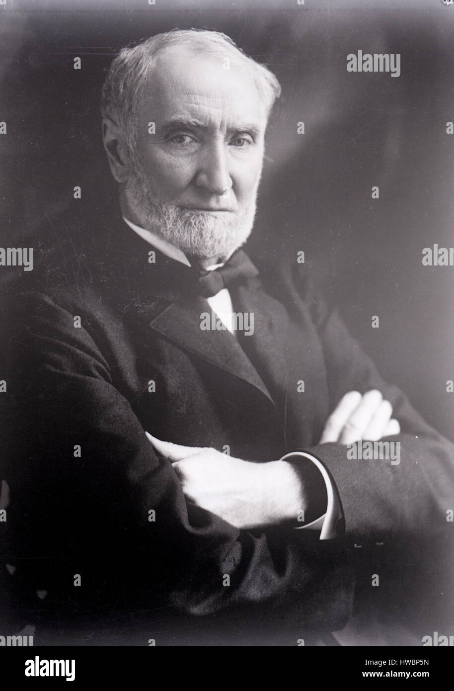 Antique c1910 photograph, Uncle Joe Cannon. Joseph Gurney Cannon (1836-1926) was a United States politician from Stock Photo