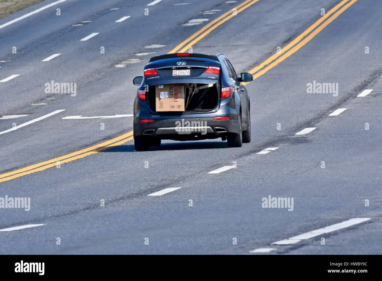 Driving with trunk open