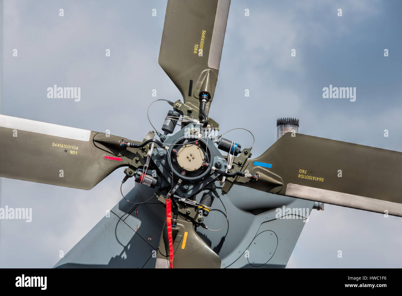 helicopter blades - Stock Image